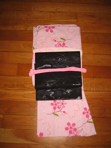 Pink UNIQLO yukata coordinate - Kimono-style