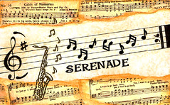 Serenade (tammysstudio) Tags: music art collage song mixedmedia journal saxaphone musicnotes musicstaff treblecleffserenade