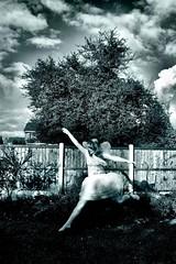 #250 (evilibby) Tags: sky girl garden wings fairy human libby 365 tutu faerie fairie 365days explored