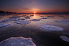 Broken Lines (Peter Bowers) Tags: winter lake toronto ontario canada cold ice frozen nikon sigma lakeontario cherrybeach torontoharbour peterbowers nikond200 citywater singhray ndgradfilter colorphotoaward vosplusbellesphotos lpwinter gettyimagescanada