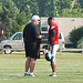 Coach Andy Reid and Donovan McNabb go over some of the finer points of the Eagles offence