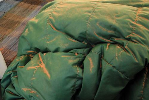 Sandy sleeping bag