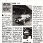 BMW E30 318i Road Test