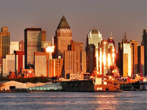 Sunset on the Hudson waterfront by joiseyshowaa, on Flickr