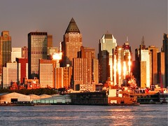 Sunset on the Hudson waterfront (joiseyshowaa) Tags: street new york city nyc sunset sky ny newyork reflection glass ferry skyline night river square landscape liberty harbor town cityscape waterfront dusk manhattan 911 11 line september midtown land times hudson september11 scape mid hdr hoboken scraper 42nd weehawken skysraper evenig platinumphoto joiseyshowaa joiseyshowa