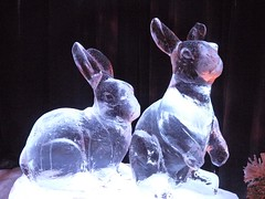 Ice Bunnies (JoWiJo) Tags: winter rabbit bunny animal hotel icesculpture gaylordtexan top20texas bestoftexas ice2008