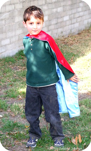Mr. S & his superhero cape