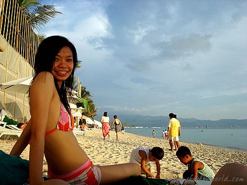 Smiling me at Boracay Regency's Beachfront