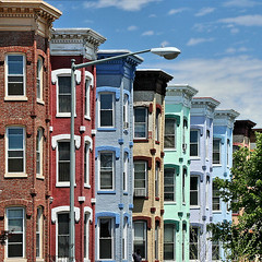 rowhouses off Logan Circle (by: ohad, creative commons license)