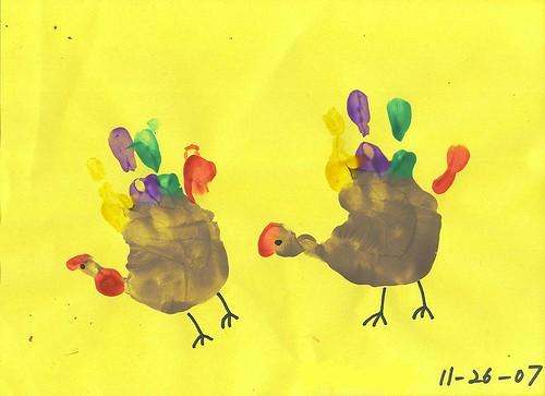 Hand Turkeys by Princess D