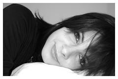 now I lay me down to sleep... (wunderskatz) Tags: camera sleeping portrait woman girl face eyes open looking sleep wide down manikin lay laying marcsi wunderskatz