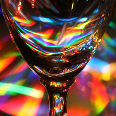 I like a nice glass of 'light' wine ! (Mukumbura) Tags: santa christmas xmas blue light red orange abstract black reflection green glass yellow lights navidad rainbow stem december pattern colours purple wine decoration indigo multicoloured kaleidoscope ornaments refraction santaclaus wineglass playingwithlight mulled lightwine