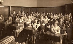 Old Chicago School Photo (chicagogeek) Tags: old school 1920s portrait blackandwhite chicago history students kids pose illinois thirties 1930s classroom scan historic photograph polonia 30s 20s twenties craigin