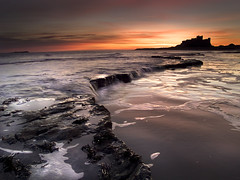 Leading Lines (dan barron photography - landscape work) Tags: sunrise dawn coast long exposure north east northumberland bamburgh vosplusbellesphotos