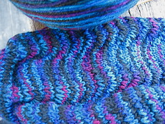 Tropicana sock, in Wollmeise Guinea Pig