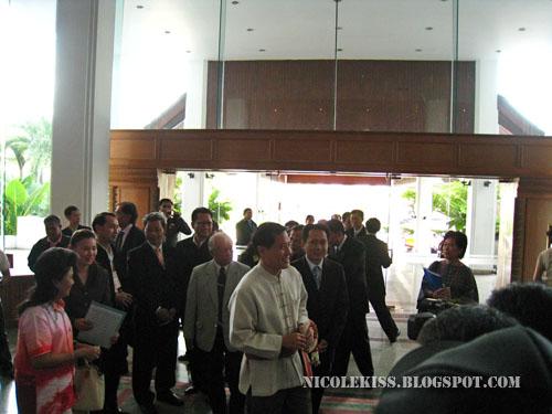 minister arriving