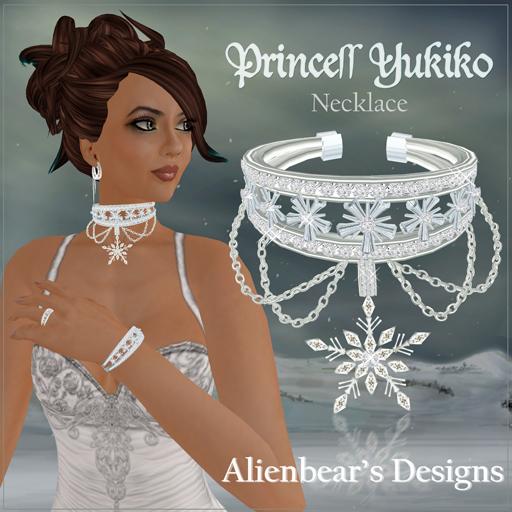 Princess Yukiko necklace white