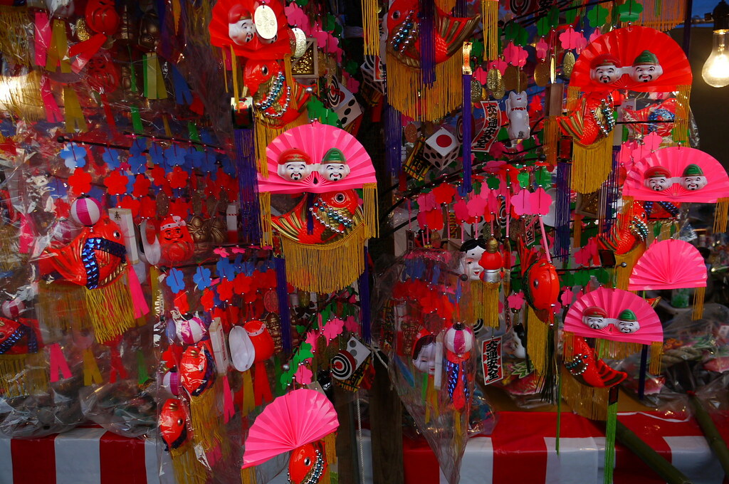 A fair of Dharma dolls