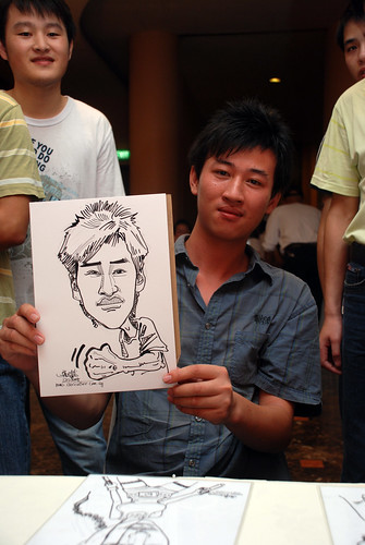 Caricature live sketching for Nippon Express Singapore Pte Ltd - 7