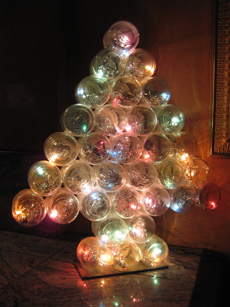 Glass Jar Christmas Tree