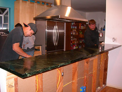 Soapstone Installation - Bar and Final Stage