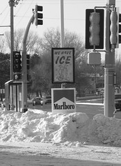 We Have Ice (jpellgen (@1179_jp)) Tags: road christmas street eve winter usa snow cars ice station minnesota sign canon penguins midwest december a95 powershot gas goldenvalley service twincities 2008 mn duluth sinclair byerlys malbaro wehaveice