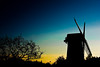 Bidston Windmill, Wirral (missydebby1) Tags: windmill silhouette canon dark landscape blues yellows wirral bidston 450d bidstonwindmill