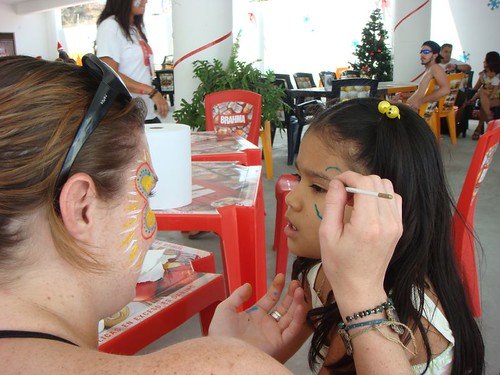 Face-paint in Máncora...