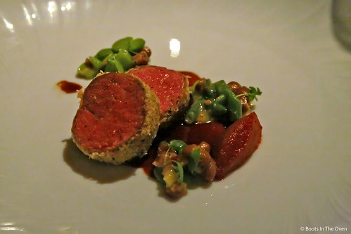 Lamb Ribeye with Spring Bean Cassoulet