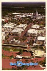 Old Disney Postcards (coconut wireless) Tags: world street club vintage mouse corporate tv orlando epcot postcard main disney mickey fl minnie wdw walt dpn meandering earforce meanderingmouse mmctv