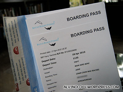 Our boarding passes