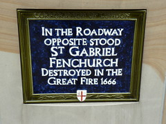 Photo of St. Gabriel Fenchurch blue plaque
