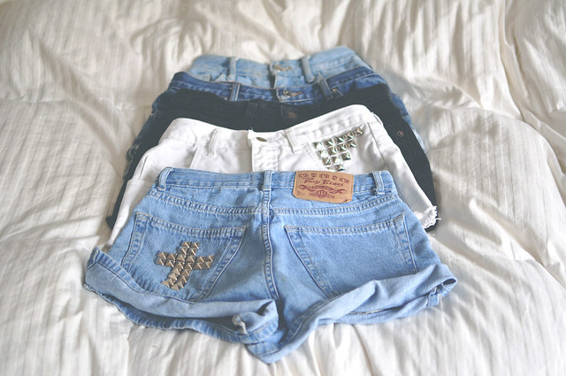 DIY studded shorts for sale