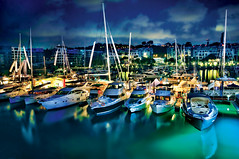 Marina at Keppel Bay in HDR (williamcho) Tags: sea water sport marina reflections bay singapore sail leisure bluehour yachts hdr clubhouse keppel d300 superyachts otw photographyrocks berths colorphotoaward flickraward marinaatkeppelbay nikonflickraward topazlabadjust williamcho flickrtravelaward