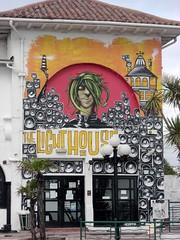 Paignton Lighthouse Inn South Devon (closed) (Bridgemarker Tim) Tags: streetart graffiti pubs inns paignton torbay wallpaintings