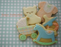baby shower cookies 1 (JILL's Sugar Collection) Tags: food baby cookies animal decoration sugar icing foodcolor royalicing sugarcraft