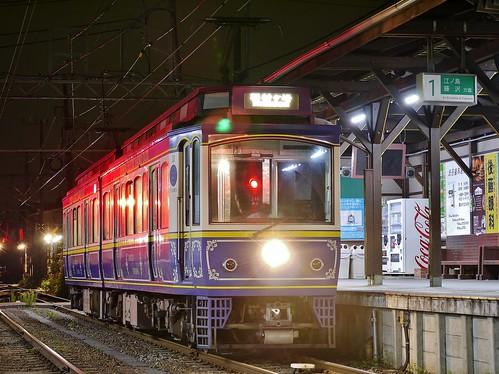 江ノ電10F稲村ヶ崎行き最終電車@長谷