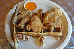 Chicken & Waffles! (mhaithaca) Tags: food chicken waffles friedchicken localfood locavore wafflefrolic
