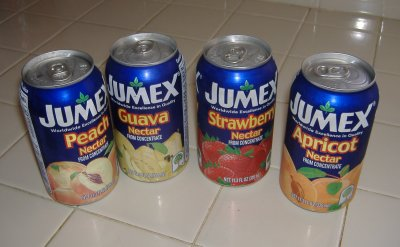 JuMex Peach, Guava, Strawberry, and Apricot Nectars