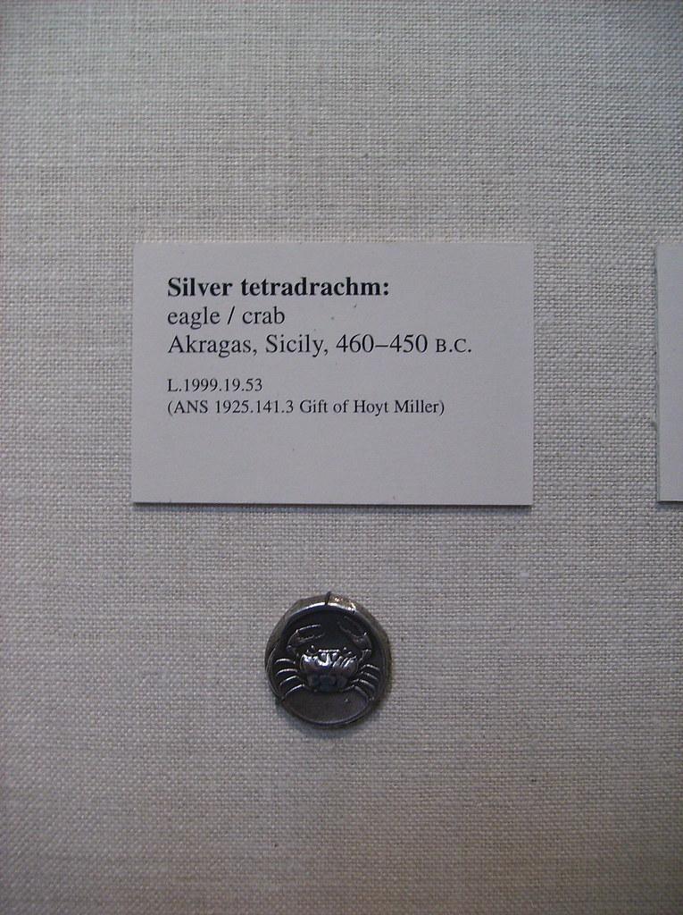 Silver Tetradrachm: Crab
