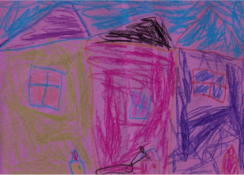 Jamies Art - Houses with very large snail