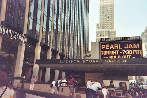 The marquee at MSG
