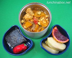 Coconut vindaloo curry bento lunch