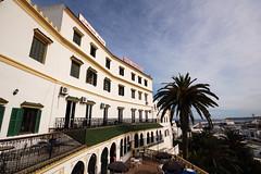 Hotel Continental (stevec77) Tags: sea building port d50 nikond50 morocco palmtree maroc tanger tangiers hotelcontinental continentalhotel  londonmarrakech