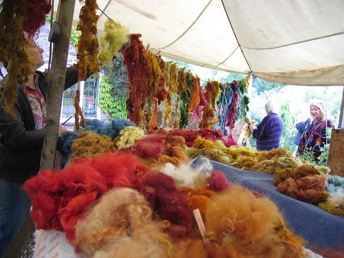 Dyed wool drying line 1