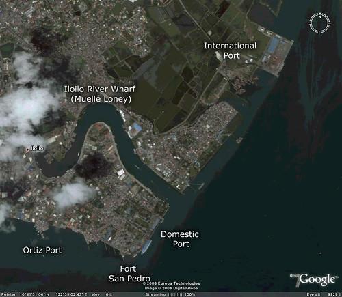 iloilo seaports google earth