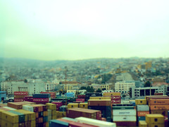 valparaso (alvazer) Tags: chile port puerto fake container valparaso tiltshift