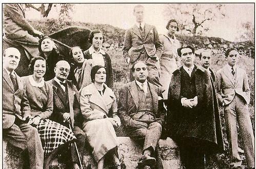 Federico García Lorca y Marañón, entre otros, en Toledo (Fundación G. Marañón)
