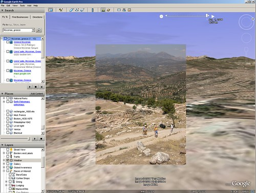 Google Earth vs. Reality - Mycenae, Greece