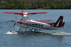 The Van and Otter (Jason Pineau) Tags: airplane nt aircraft nwt otter caravan northwestterritories turbine seaplane cessna yellowknife floatplane dehavilland yzf dhc3 airtindi c208 cyzf cfzdv cgaty